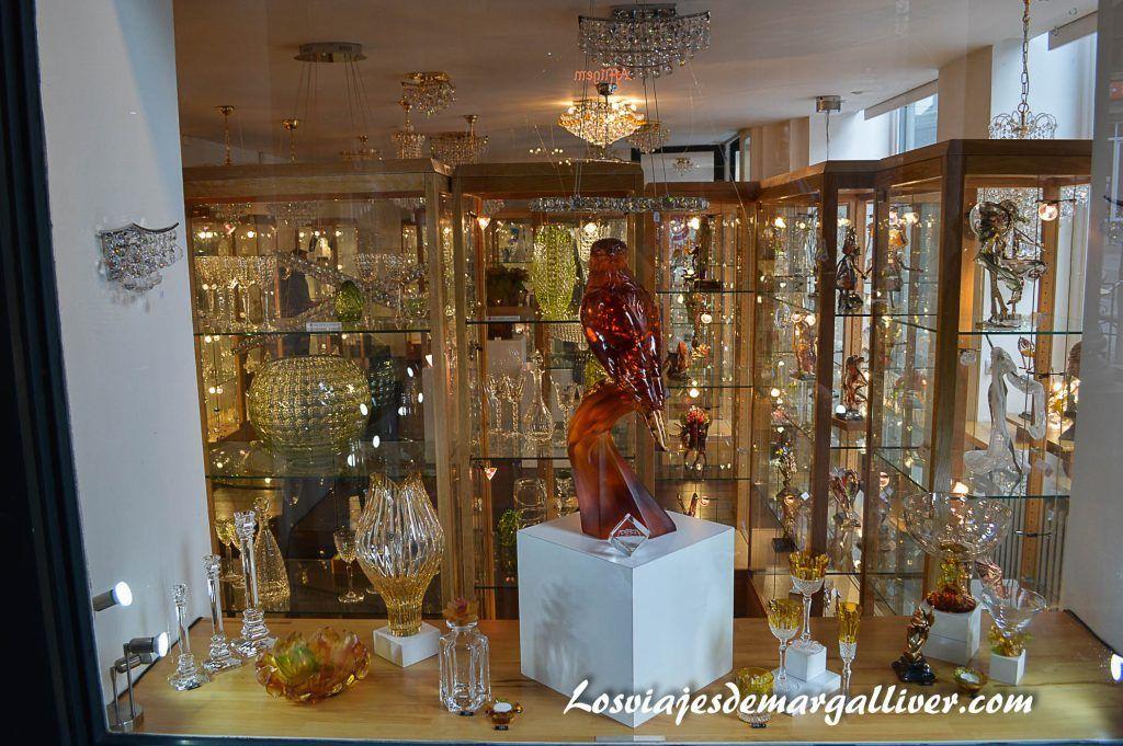 Cristaleria de la galeria de la reina en Bruselas - Los viajes de Margalliver